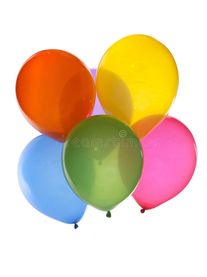 ballonger samlar ihop färgrikt royaltyfria foton