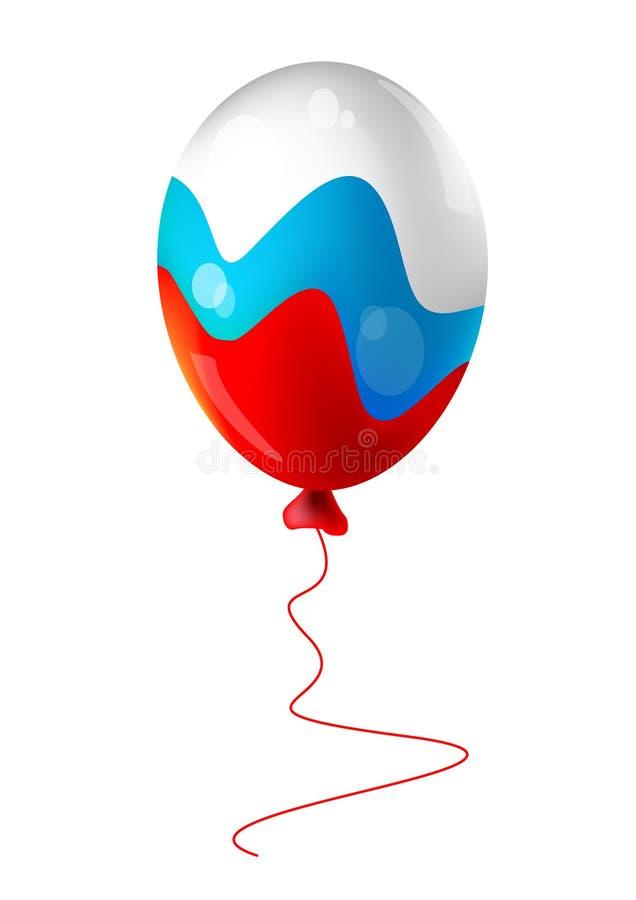 ballongflagga russia vektor illustrationer