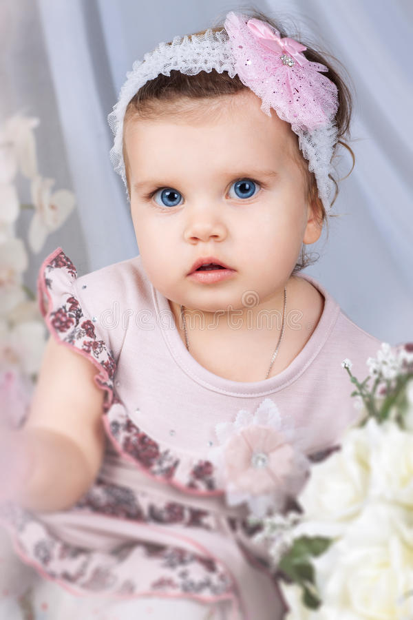 ballongflicka little royaltyfri foto