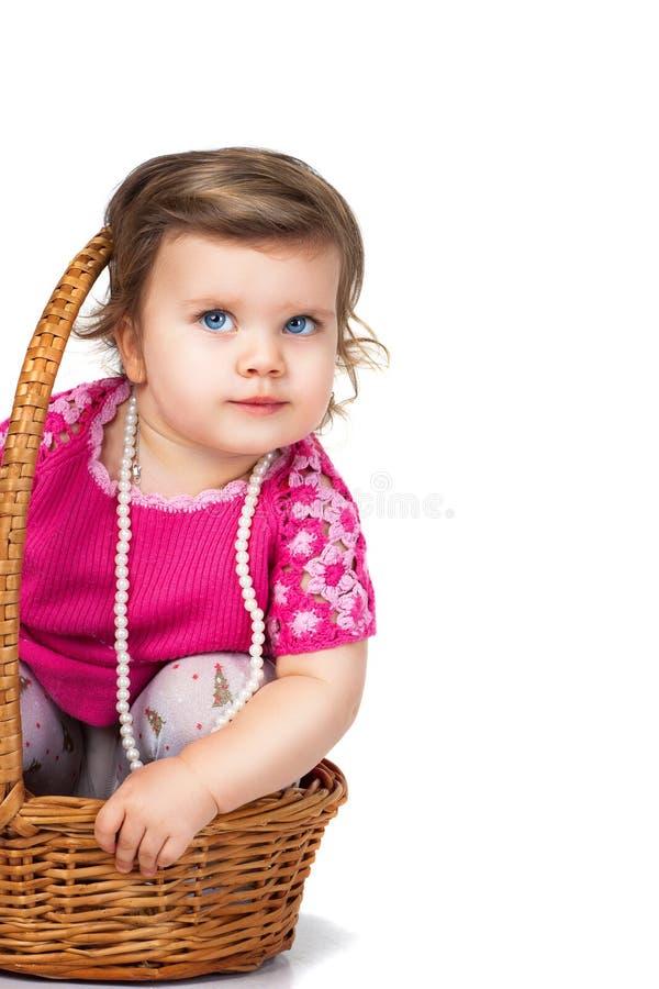 ballongflicka little royaltyfri bild
