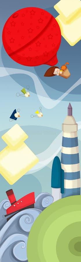 ballongflyg vektor illustrationer