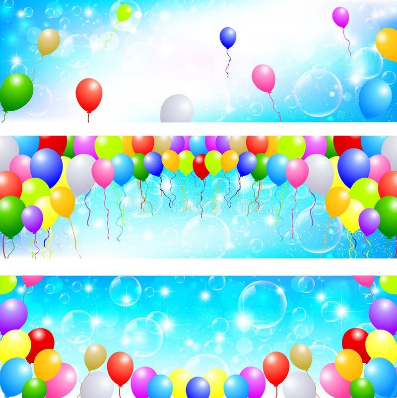 Download Ballonghimmelbakgrund vektor illustrationer. Illustration av gummi - 37347122