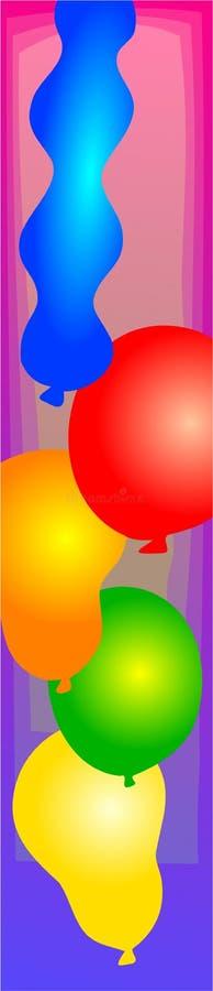 ballongkant royaltyfri illustrationer