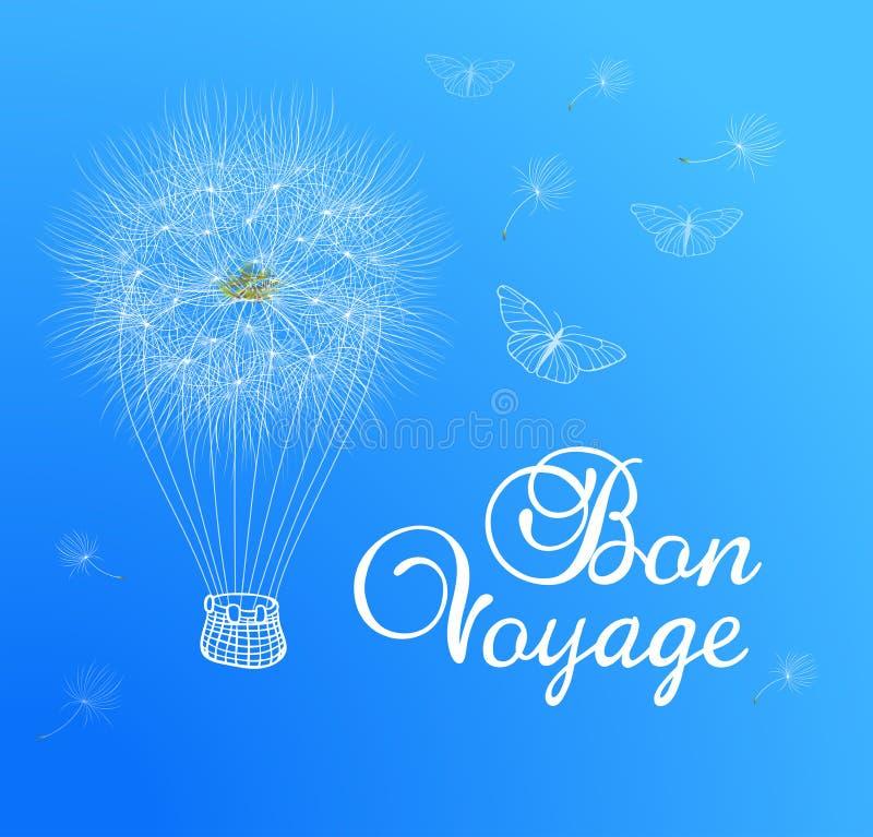Ballongmaskros i den blåa himlen royaltyfri illustrationer