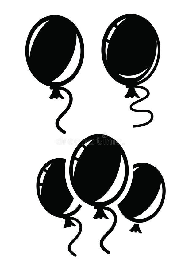 Ballongsymbol stock illustrationer