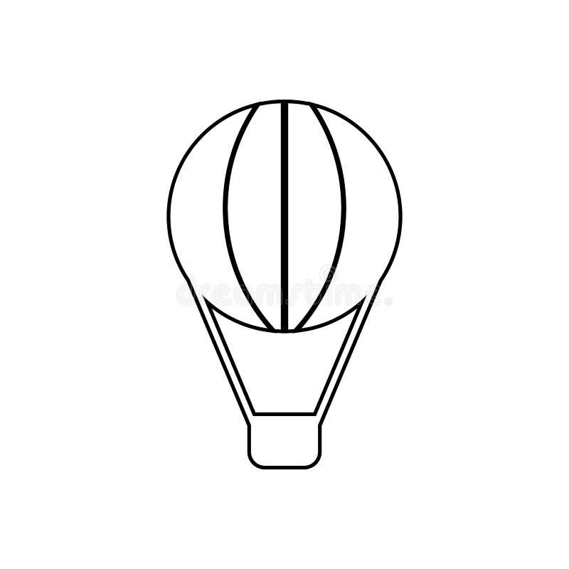 Ballongsymbol Best?ndsdel av transport f?r mobilt begrepp och reng?ringsdukappssymbol ?versikt tunn linje symbol f?r websitedesig vektor illustrationer