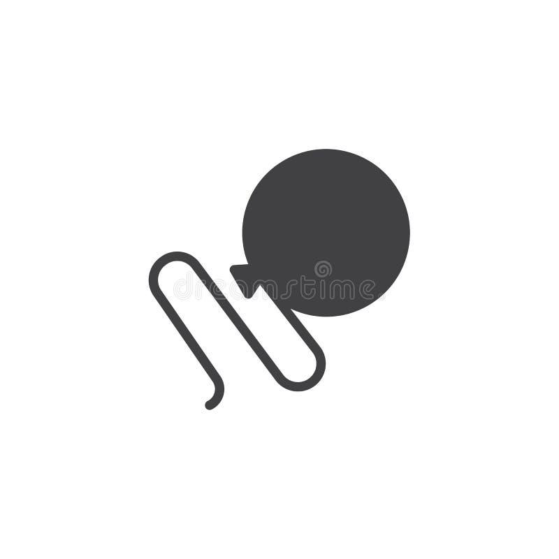 Ballongsymbolsvektor stock illustrationer