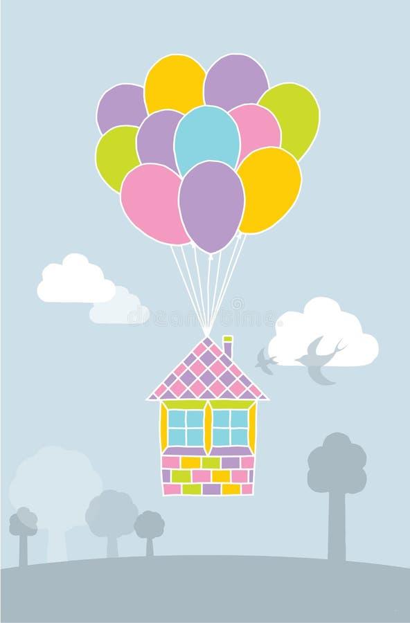 Ballonhausillustration lizenzfreies stockbild