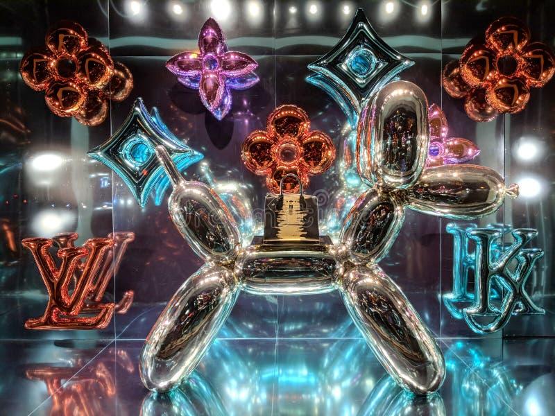 Ballonhond Louis Vuitton x Jeff Koons - de Meestersinzameling royalty-vrije stock fotografie