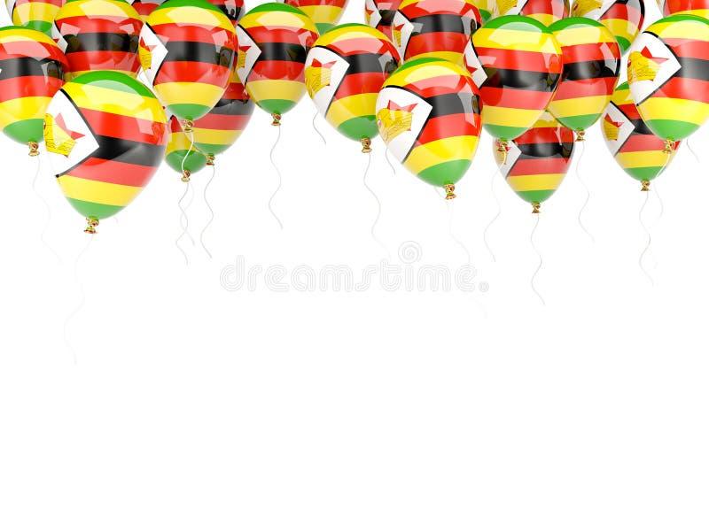 Ballonkader met vlag van Zimbabwe royalty-vrije illustratie