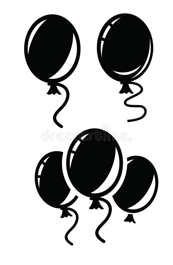 Ballonpictogram stock illustratie