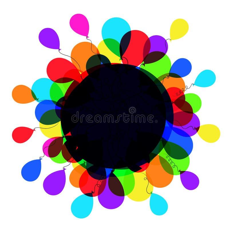 Ballonrahmen stock abbildung