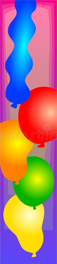 Ballonrand lizenzfreie abbildung
