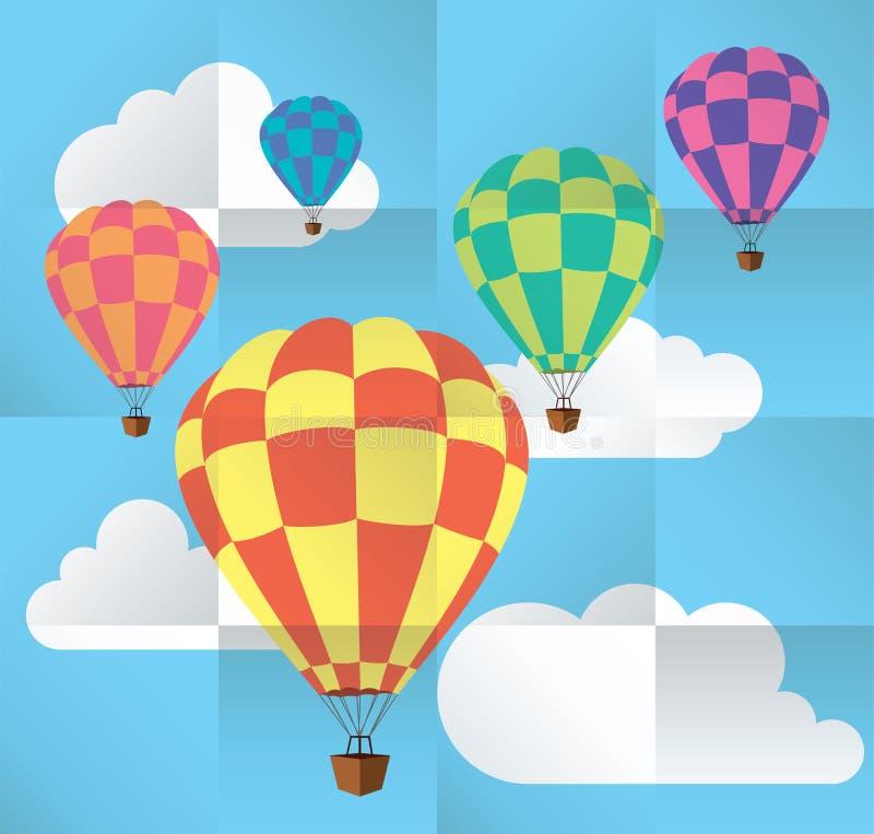 Ballons à air chauds illustration de vecteur