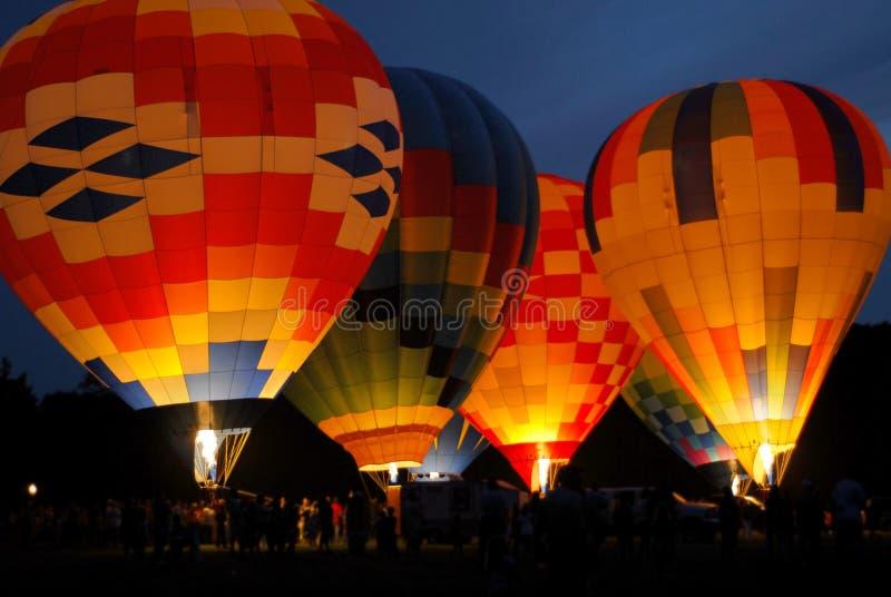 Ballons à air chauds colorés deux image libre de droits