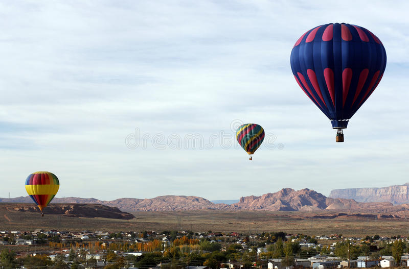 Ballons à air chauds de l'Arizona images libres de droits