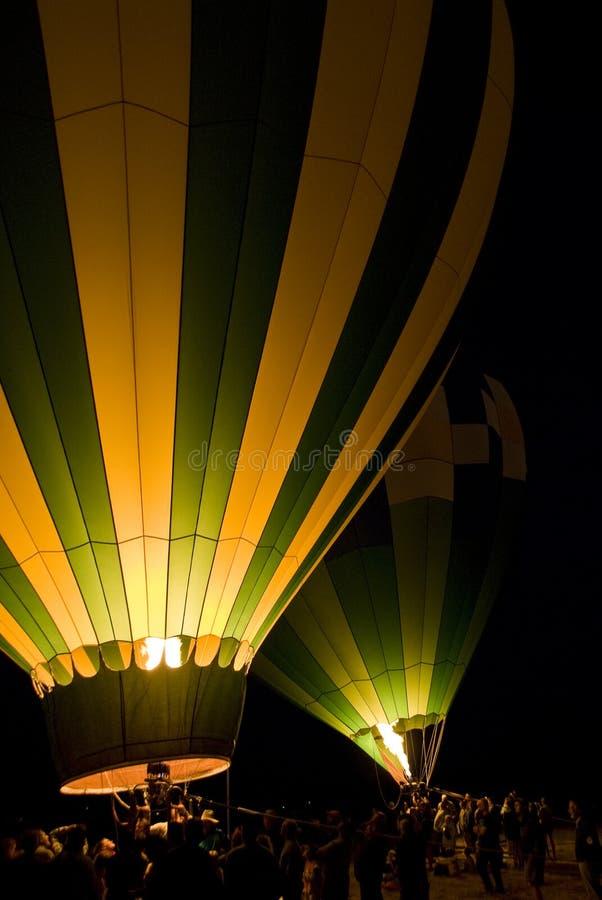 Ballons à air chauds de lancement image libre de droits