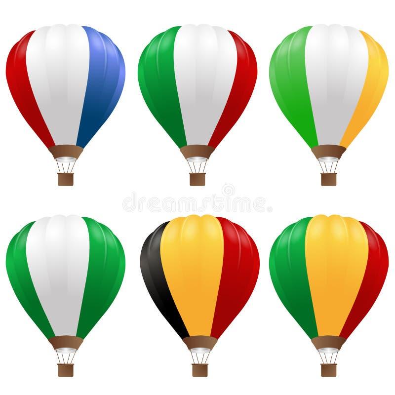 Ballons à Air Chauds Réglés Photo libre de droits