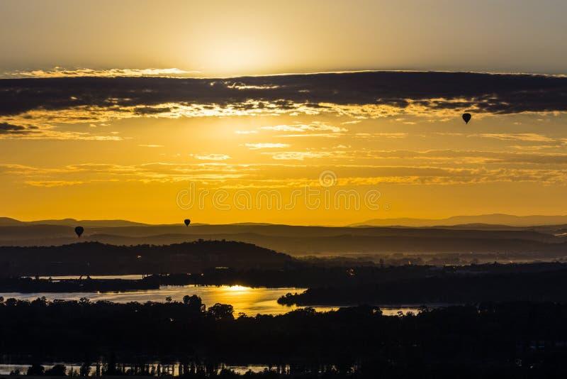Ballons über Canberra stockfoto