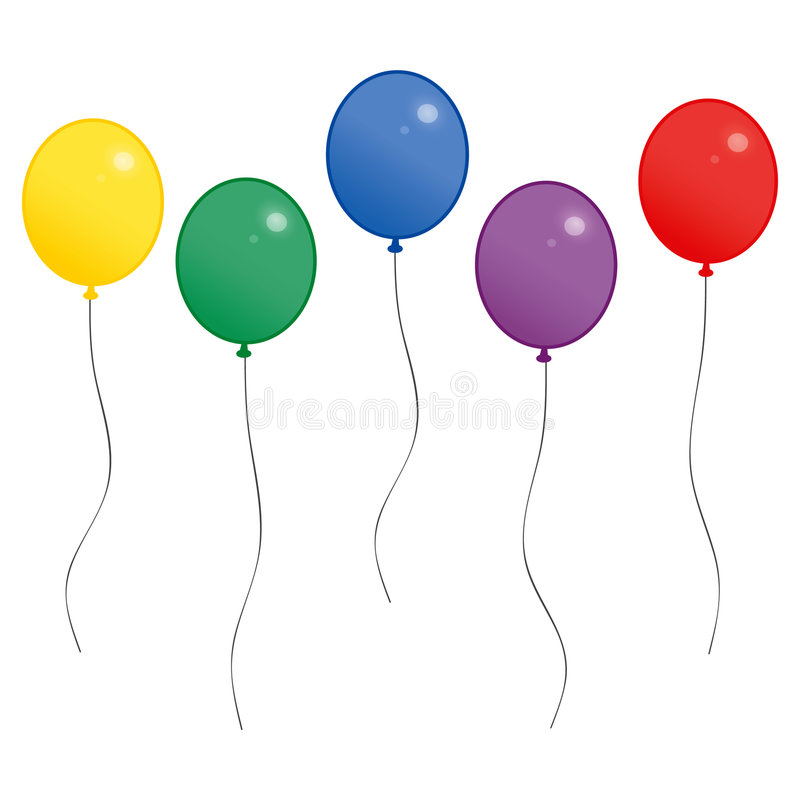 ballons święto ilustracja wektor