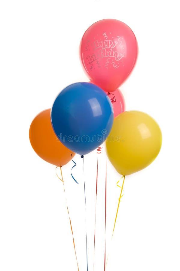 ballons γενέθλια πέντε ευτυχή στοκ φωτογραφίες