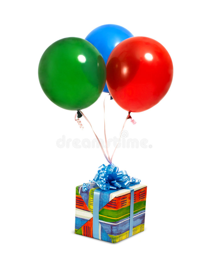 ballons δώρο στοκ φωτογραφία με δικαίωμα ελεύθερης χρήσης
