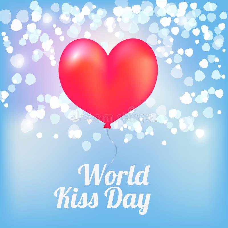 Ballons ημέρας παγκόσμιων φιλιών απεικόνιση αποθεμάτων