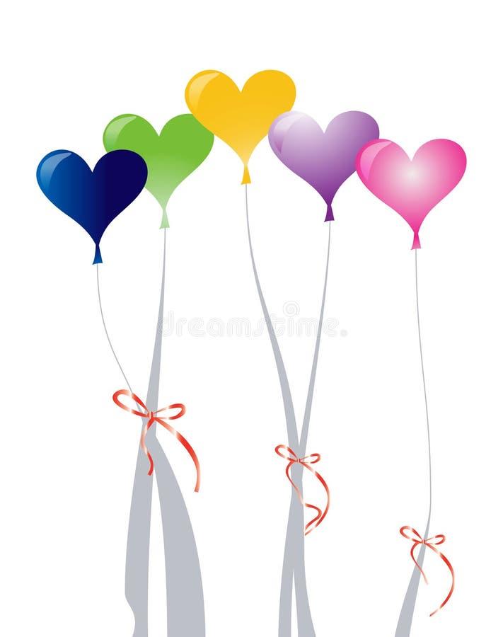 ballons καρδιά διανυσματική απεικόνιση