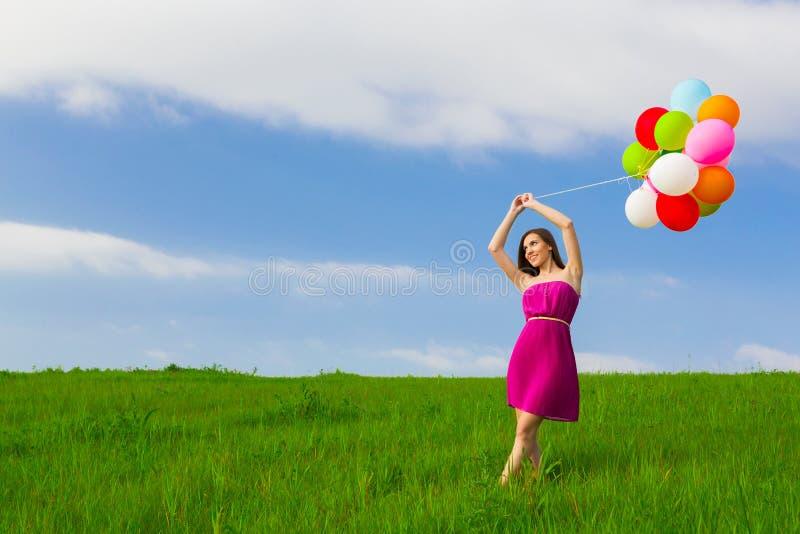 ballons κορίτσι στοκ φωτογραφίες με δικαίωμα ελεύθερης χρήσης