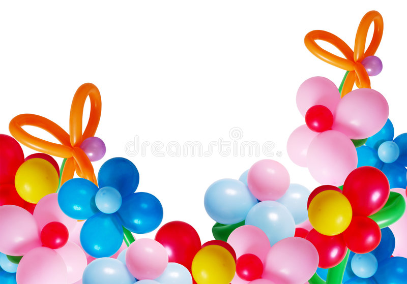 ballons изолировали белизну стоковое изображение