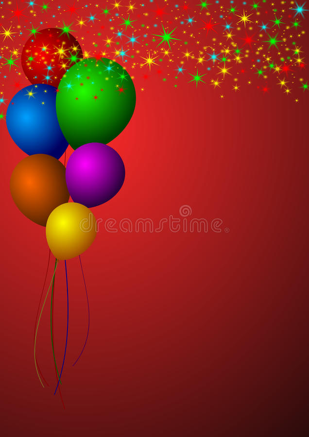 Ballons illustration stock