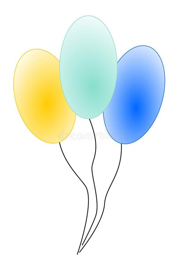 Ballons illustration libre de droits