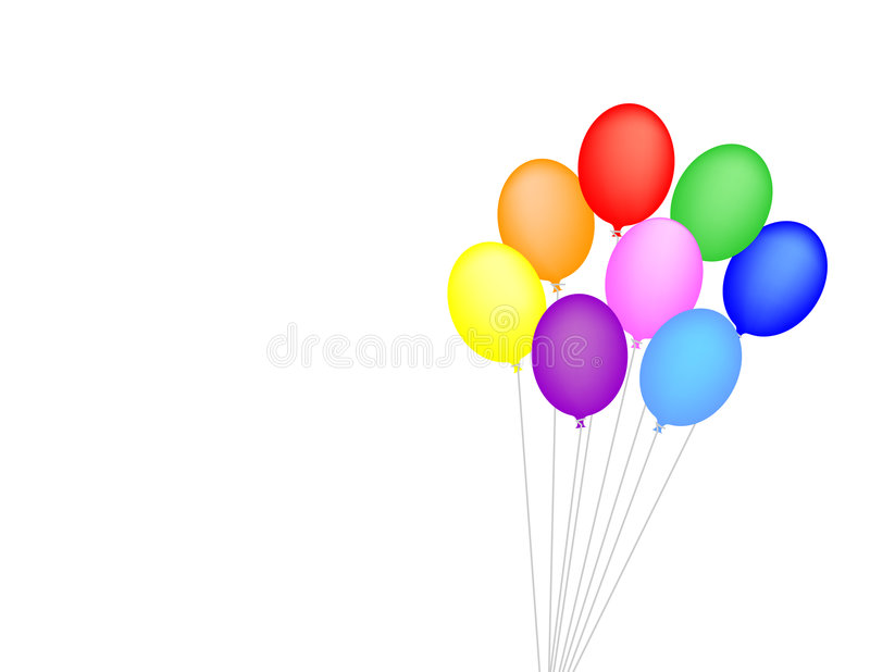 Download Ballons stock illustratie. Illustratie bestaande uit park - 27561