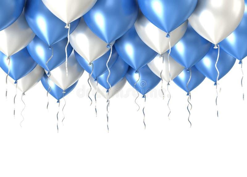 ballons 3d brilhantes ilustração stock