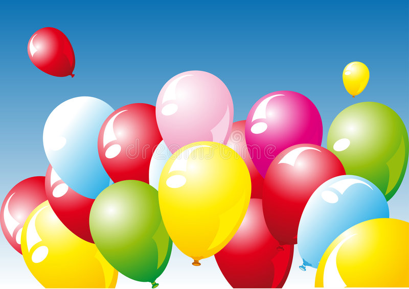 Ballons stock illustratie
