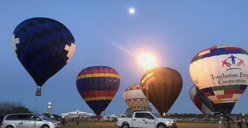 Ballons ? air chauds images stock