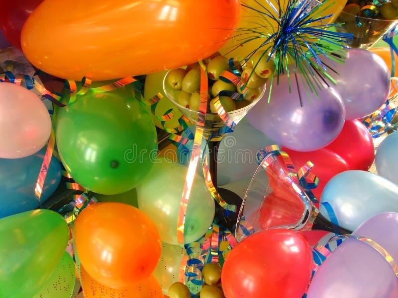 Ballons & Olijven stock afbeeldingen