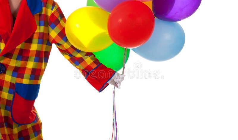 ballons błazenu mienie obraz royalty free