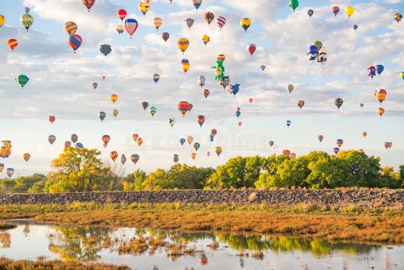 Ballons bij het de Ballonfestival van Albuquerque royalty-vrije stock foto