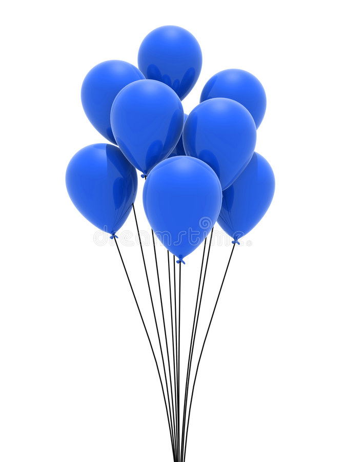Ballons bleus illustration de vecteur
