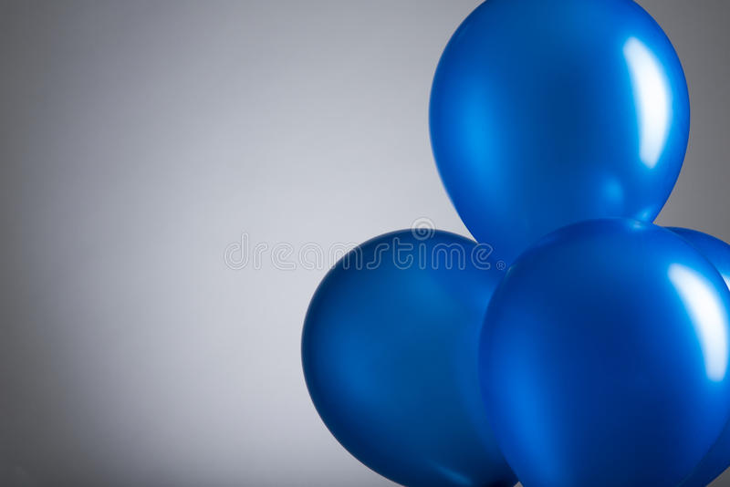 Ballons bleus image stock