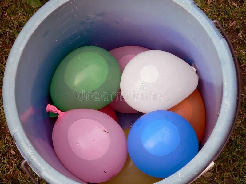 Ballons In Bucket Stock Photos