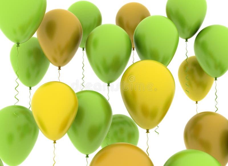 Ballons colorés illustration de vecteur