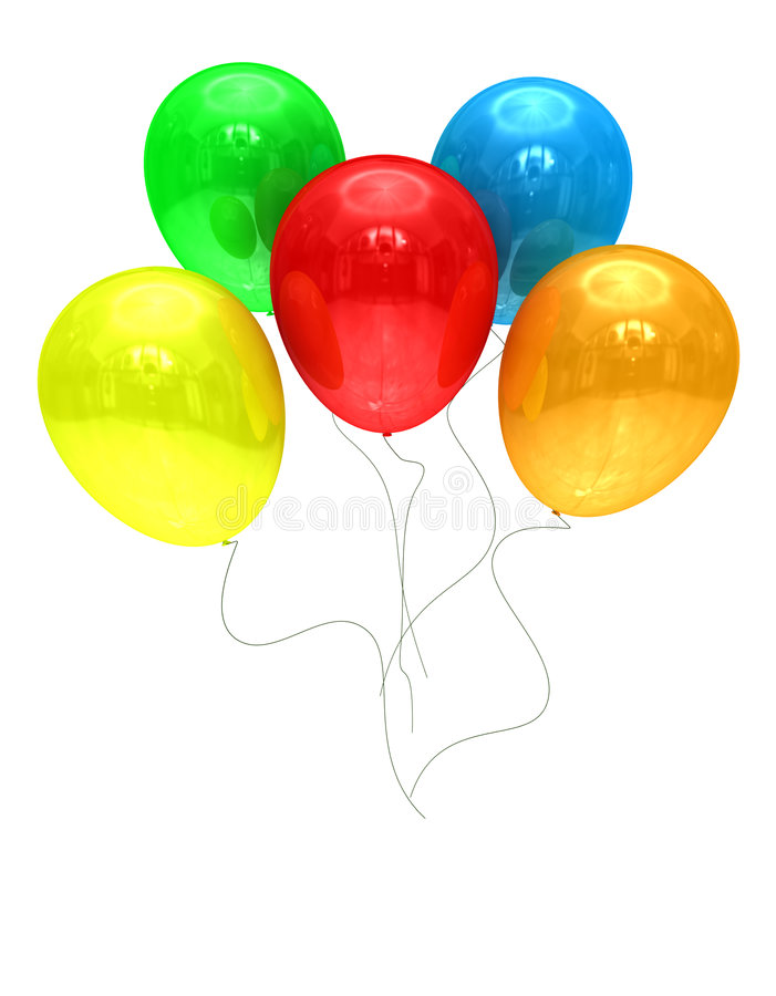 Ballons colorés photographie stock libre de droits