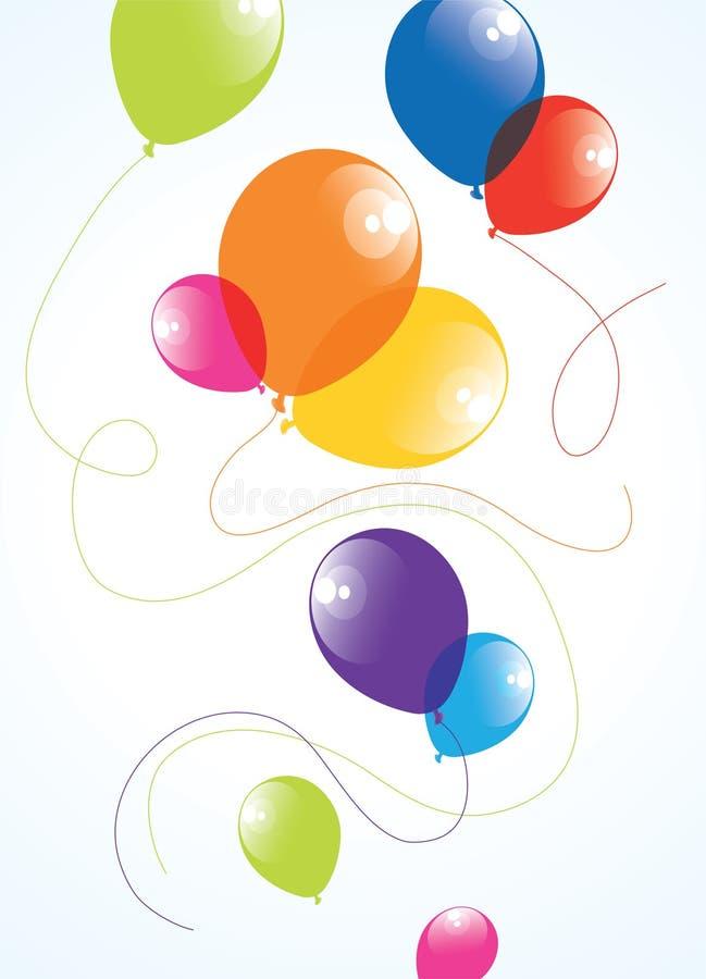 Ballons colorés dans le ciel illustration libre de droits