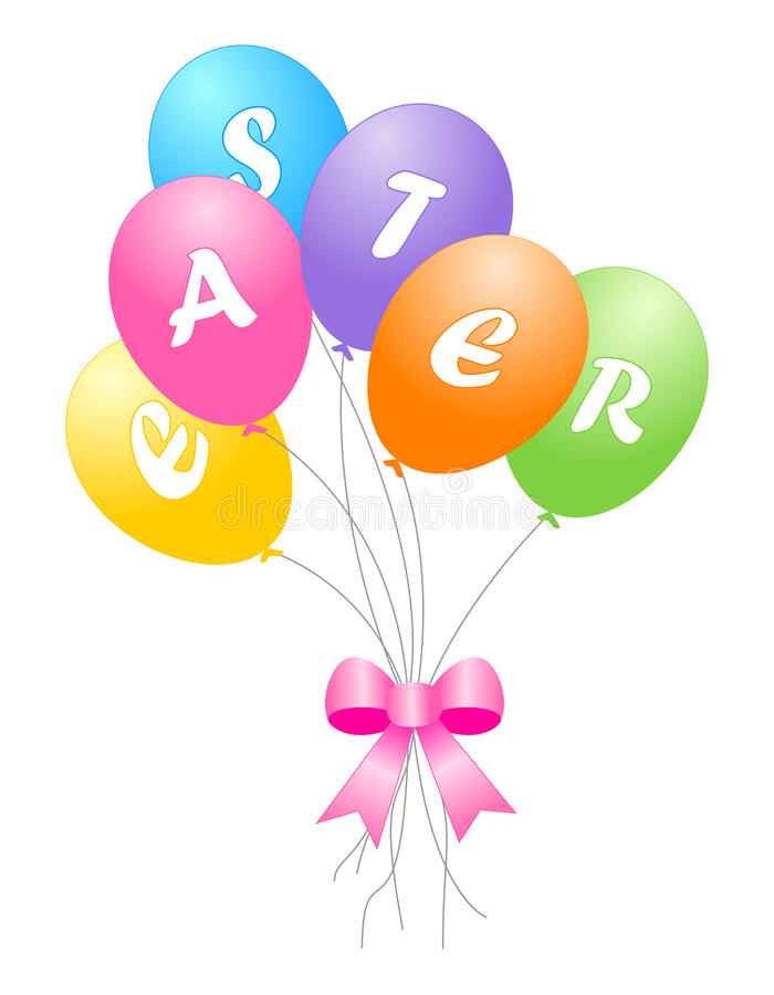 Ballons Colorés De Pâques Photographie stock libre de droits