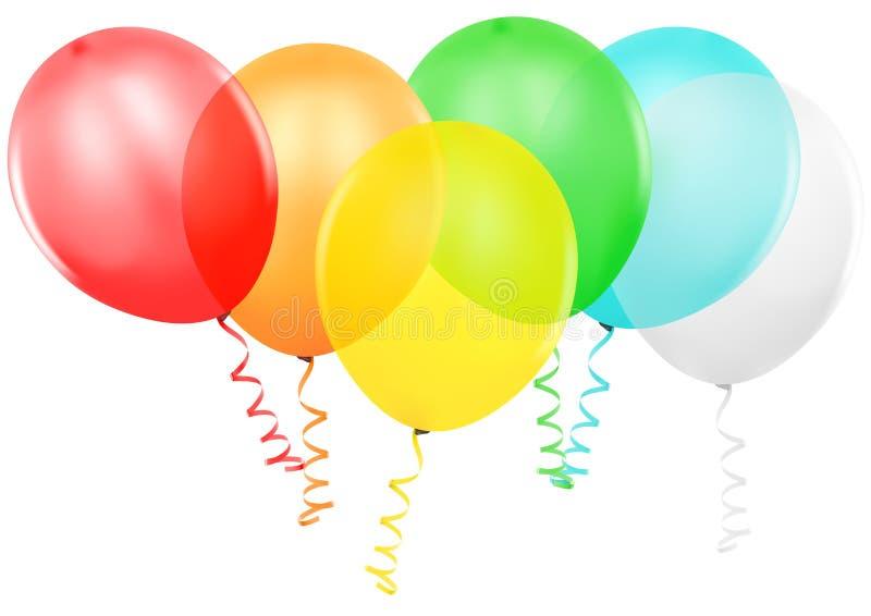 Ballons colorés de réception illustration libre de droits