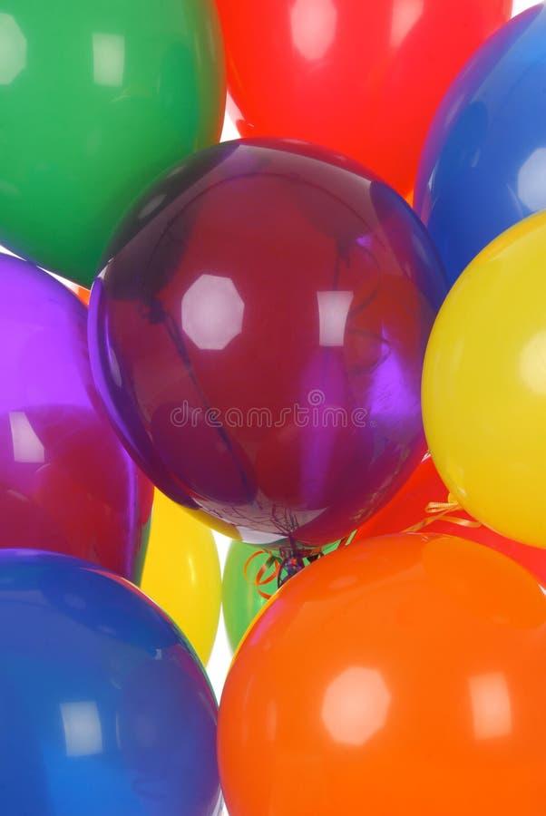 Ballons colorés de réception photo libre de droits