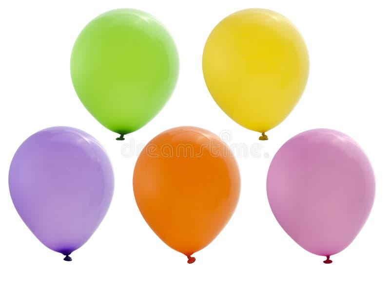 Ballons colorés de réception d'isolement photographie stock libre de droits