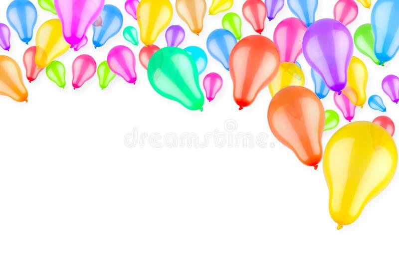 Ballons colorés en hausse illustration stock